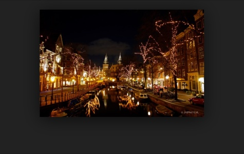 Holiday lights in Amsterdam