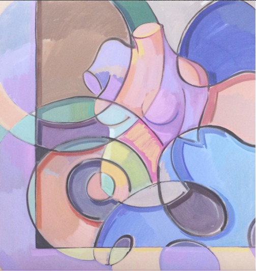Baroque Battle Lines, 2013 Oil on canvas 46 × 40 in 116.8 × 101.6 cm