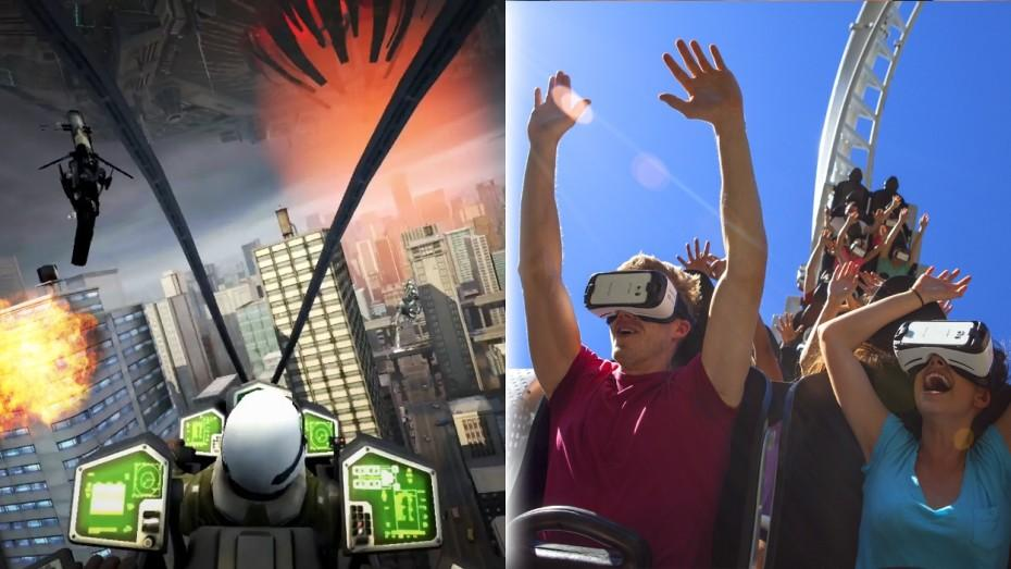 Samsung's Oculus-powered Gear VR headset and Six Flags