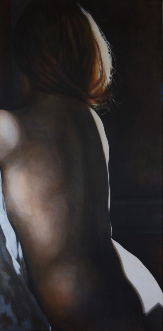 NUDE 5', 48″ x 24″, acrylic on canvas