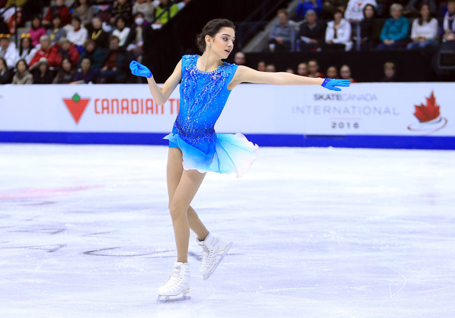 MISSISSAUGA%2C+CANADA+-+OCTOBER+28%3A++Evgenia+Medvedeva+of+Russia+competes+in+the+Ladies+Short+Program+during+the+ISU+Grand+Prix+of+Figure+Skating+Skate+Canada+International+at+Hershey+Centre+on+October+28%2C+2016+in+Mississauga%2C+Canada.++%28Photo+by+Vaughn+Ridley+-+ISU%2FISU+via+Getty+Images%29