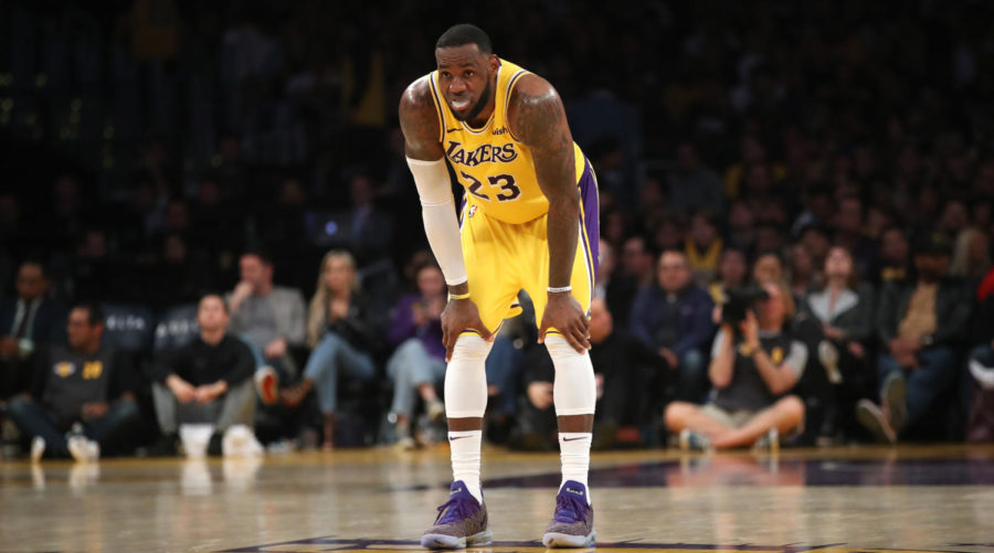 LOS+ANGELES%2C+CALIFORNIA+-+MARCH+04%3A++LeBron+James+%2323+of+the+Los+Angeles+Lakers+looks+on+during+the+second+half+of+a+game+against+the+LA+Clippers+at+Staples+Center+on+March+04%2C+2019+in+Los+Angeles%2C+California.++The+Los+Angeles+Clippers+defeated+the+Los+Angeles+Lakers+113-105.++%28Photo+by+Sean+M.+Haffey%2FGetty+Images%29