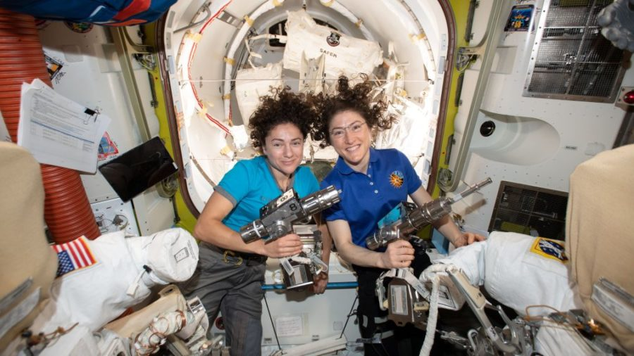 The+All-Women+Spacewalk+Makes+History