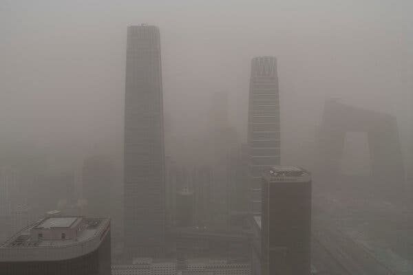 A Massive Dust Storm Blankets Beijing With Pollutants and Gas